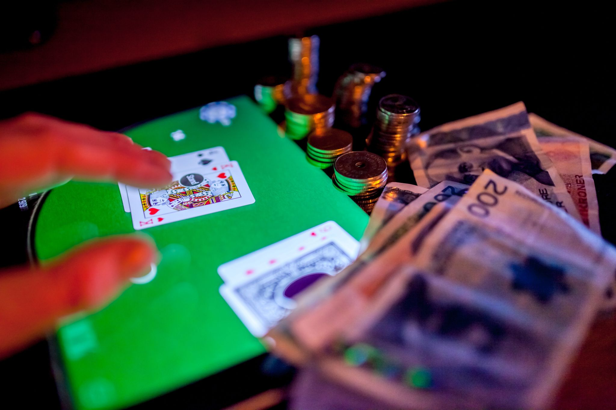 a gambling card game